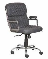Medium Back Leatherette Office Chair Black (VJ-2031)