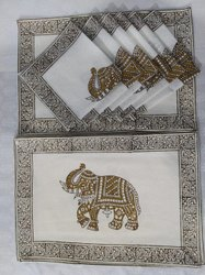 Hand Block Print Table Mat Napkin Set