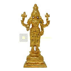 Gold Plated Vishnu Statue
