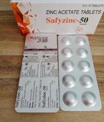 safyzinc-50 zinc acetate tablets