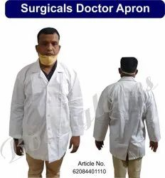 Bodygloves Full Sleeves White Surgical Doctor Apron, Size: Small
