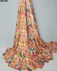 Beautiful Rayon Silk Digital Print Fabric