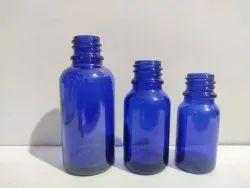 Blue Dropper Glass Bottle