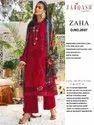 Zaha By Khayyira Zarqash Jam Satin Cotton Pakistani Suits Wholesale Catalog