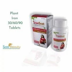 Plant Iron Tablets, Packaging Type: Bottle