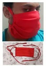Sakla Uniforms Reusable 100% Cotton Colored Surgical Style Face Mask