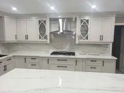Fancy White Kitchen Set  With Marbletop