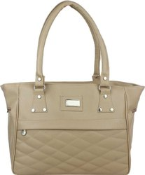 Cream PU Leather Fashion Hand Bag, 400, Size: Free
