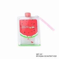 Transparent Note Book Fruit Bottle-WBT-107-380ml, Capacity: 380ml