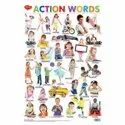 Action Words Hard Laminated Different Charts