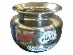 Stainless Steel 10inch Polished SS Lota, For Pooja, Size: 9inch