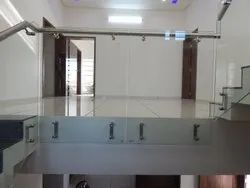 Panel Stainless Steel Toughen Glass Railing., For Home