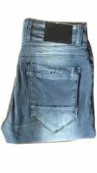 Regular Fit Mens Blue Faded Denim Jeans