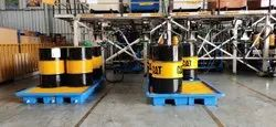 Ercon Fork Lift. 4 Drum Spill Containment Pallet, For To Avoid Spillage On Floor., Capacity: Single Or Two Or Four