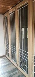 Exterior Paint Coated Iron Safety Window Grill, Rectangular