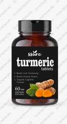 Ssure Turmeric Tablets Boost Immunity & Anti-Inflammatory, Non prescription, HDPE Jar