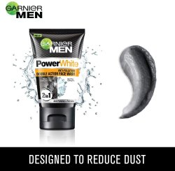 Black Garnier Men Power White Anti-Pollution Double Action Face Wash, Age Group: Adults, Packaging Size: 100gm