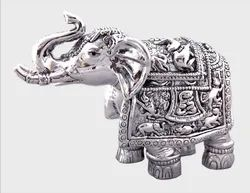 Silver Elephant Statues in 999 Silver Hollow, Size: 2