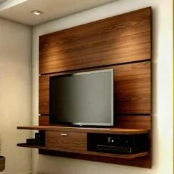 Wooden LED Wall Panel Designing Service, For Residential