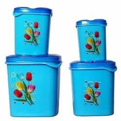 滴卡特蓝2239塑料密封食品储存集装箱套装