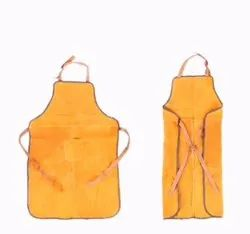 Yellow Industrial Leather Apron, For Construction