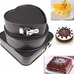 3 Sets Of Square Round Heart-Shaped Bottom Buckle Cake Mold Non-Stick Cake Mold