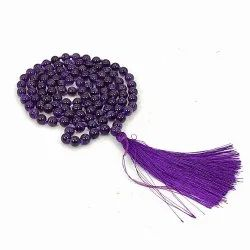 Purple Amethyst Necklace Japa Mala Reiki, Chakra, Crystal Healing, Meditation