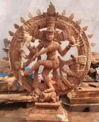 Wooden Natarajar Statue