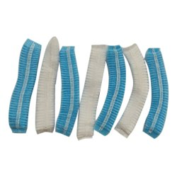 Round White,blue Disposable Cap, For Hospital, Quantity Per Pack: 10 Piece Per Box