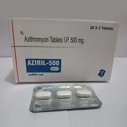 Aziril-500 Azithromycin 500mg Tablets, 3 Tablets