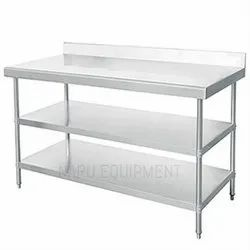 Butler Standard Stainless Steel Work Table, For Hotel, Size: 1200 X 600 X 850 + 150mm