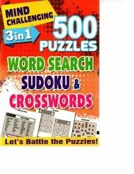 500 Puzzles Word Search Sudoku & Crosswords, English
