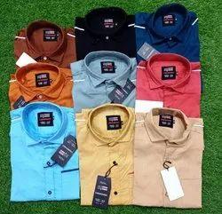 Cotton Twill Plain Fashion Aex Branded Men's Formal Shirt, Machine wash