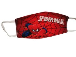 Reusable Kids Spiderman Printed Face Mask, Number of Layers: 2 Layer