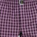 The Class Packer Boxers Black & Purple Checks Short