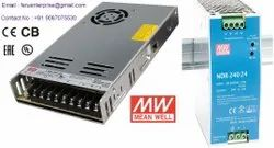 24VDC 10A Meanwell SMPS Power Supply