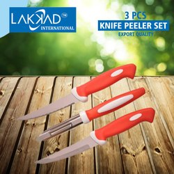 LAKKAD INTERNATIONAL Multicolor Knife Peeler Set 3 Pcs, For Multiuse