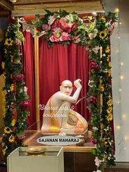 White Marble Gajanan Statue