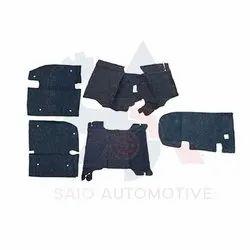 Long Body Floor Mat Liner Felt Black Carpet Set For Suzuki Samurai SJ410 SJ413 SJ419 Sierra Santana