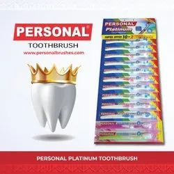 Personal Brushes 15 & Above Platinum Toothbrush, For Cleaning Teeth, Packaging Size: 12 Pcs Hanger Pack