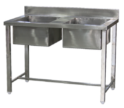 Double Stainless Steel Sink Unit