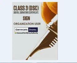 Class 3 Signing Organization User Digital Signature Certificate services