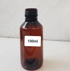 100 Ml Amber Round Pet Bottle