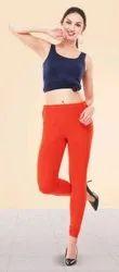 Cotton Lycra 4way Strechabloe Churidar Comfort Indo Cut Leggings, Size: Free Size