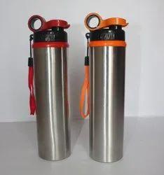 AEIR Silver Stainless Steel Sipper Water Bottle, 750 ml