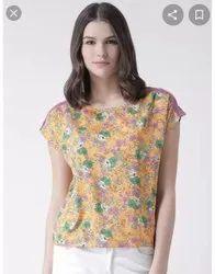Multicolor Ladies Branded Top