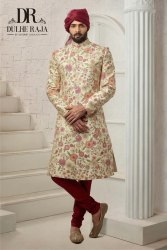 Wedding Wear Printed Dulhe Raja Indo Western, Size: Small
