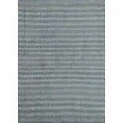 Handloom Aqua Stripe Wool Viscose Area Rug and Carpets