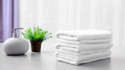 Pure White Cotton Hotel Towel, Rectangular, 450-550 GSM