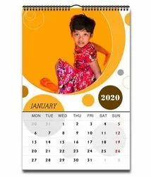 Calendar Printing 20 Photo Calender Services, in Pan India, Dimension / Size: A4